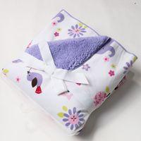 Wholesale 2015 NEW ARRIVAL CM Coral Fleece Plush Blanket Super Soft Fabric Baby Sleeping Bedding Kid Cartoon Style Swaddling CY0723