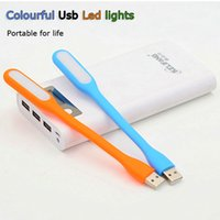 Wholesale 10pcs Mini USB LED Lamp soft Flexible Bendable power lights for Tablet PC Notebook free shippinig by china post