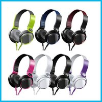 Cheap MDR-XB400 Headband Headphones Stereo Headset Extra Bass Earphones Protable Cool Colors Earbuds for SONY with retail Package