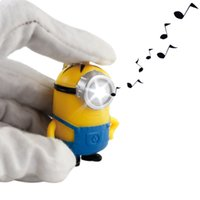 Wholesale Despicable Me LED Keychain Cute Minion Key Chain Ring Flashlight Torch Sound Toy Promotion Novelty Gift children christmas gift