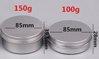 aluminium hand - 10 ml Empty Aluminium Cosmetic Containers Pot Lip Balm Jar Tin For Cream Ointment Hand Cream Packaging Container Box