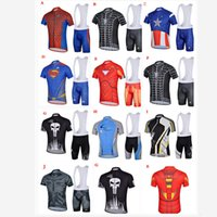cycling jersey wholesale - New Style Cycling Jerseys Bike Men Cycling Hero Jerseys Bib Shorts Padded Suit Set Outdoor Sport Team Wear