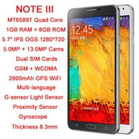 "Cheap 2014 NO.1 N3 original phone android MTK6589T Quad Core 5.7"" IPS 1280*720 1GB RAM 8GB ROM 13.0MP dual sim 1:1 Note 3 N9000 N9005"