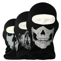 Wholesale NEW CS Cosplay Ghost Skull Black Full Face Mask Motorcycle Biker Balaclava Breathing Dustproof Windproof mask Skiing sport masks