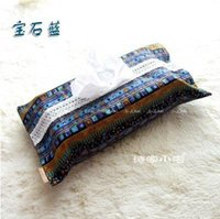 asian textiles - home textiles tissue box Southeast Asian nation wind tissue box Cotton and linen fabric lace tissue box FF952