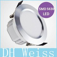 Wholesale Aluminum Silver Led Downlights High Power W AC V Dimmable Led Down Light Angle lm Warm Cool White Drivers Retail Package