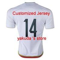 quality white shirts - 2015 Mexico Away White J HERNANDEZ CHICHARITO Soccer Jerseys Thai Quality Customized Soccer Jerseys Soccer Wear Shirts Tops