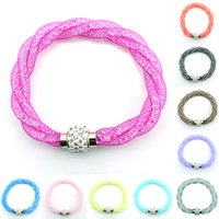 jewelry free shipping - Newly Charm Bracelets Stardust Crystal Mesh For Women Magnetic Clasp Multilayer Infinity Bracelets Bangles Jewelry