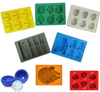Silicone Rubber trays - Star Wars Death Silicone Ice Tray Ice Mold Maker Darth Vader Han Solo X Wing R2D2 Millennium Falcon Storm Trooper Boba Fett Star Sphere