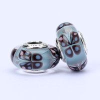 Cheap 10pcs lot Pandora Style charm faceted murano glass beads loose beads thread bead butterfly beads jewelry wholesale T5