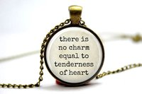 american equal - 10pcs Jane austen There is no Charm Equal to Tenderness of Heart Necklace Glass Photo Cabochon Necklace