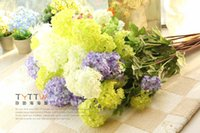 Wholesale Value Special ultra realistic super fresh and beautiful hydrangeas simulation spend three color options