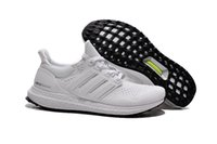 add drops - 2015 hot sell summer autumn mens fashion adds Ultra Boost white black Mesh Breathability sports shoes running shoes drop shipping size