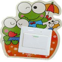 big improvements - 10pcs fashion wall stickers cartoon stickers Home Improvement luminous opening big eyes frog sticker TC092