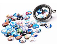 Wholesale 20Pcs Floating Round Glass Characters Cartoon Charms For Glass Floating Locket