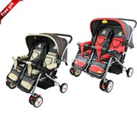 Wholesale J G Chen Sanle Brand Baby Stroller for Twins Twin Stroller Strollers for Baby M Foldable Red Beige Color Weight kg