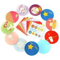 Wholesale 20pcs set Christmas Motif Various Patterns Round Shaped With Square Envelope LOMO Card Greeting Card Birthday Cartoon Gift