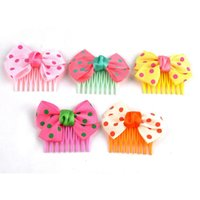 Wholesale Fashion Headwear Kids Children Girls Hair Combs Clip Pins With Heart Butterfly Bowknot Rose Hair Accessories F50SS0039 M1