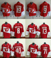 Wholesale Fatcotry Outlet Ice hockey Detroit Red Wings Gordie Howe Dylan Larkin Zetterberg Pavel Datsyuk Red Stadium Series Men s Jersey