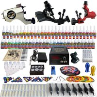 rotary tattoo kit - Solong Tattoo Complete Tattoo Kit Pro Rotary Machine Guns Inks Power Supply Needle Grips TK355