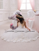 beige wedding gowns - Wedding Party Holiday Birthday Bridesmaid Flower Girl Ivory and Beige Tulle Dress Custom Make Little Girls Gift