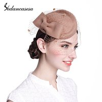 felt hat - Ladies Mesh Felt Wool Fascinator Cocktail Formal Hat Head Band For Wedding Party Church TS004002