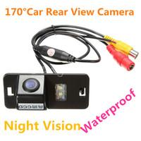 170 grados LED de visión nocturna resistente al agua AV CMOS color frente auto del coche de copia de seguridad de visión trasera inversa cámara del estacionamiento para BMW E39 E46 X5 6