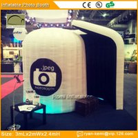inflatable tent - Color changing LED lighting Inflatable photo booth tent bar