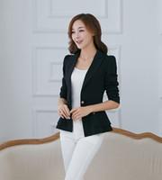 Wholesale New Fashion Women Blazer Jacket Suit Casual Candy Coat Jacket Single Button Outerwear Woman Blaser Feminino Female spring new long