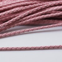 leather supplies wholesale - Beadsnice braided leather cord leather rope leather necklace bracelet making component jewelry supplies ID