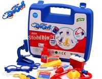 Wholesale Doctor play set hot sale children kid educational toys Simulation Doctor Pretend Play Set Russian USA Brazil