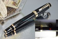 Wholesale PURE PEARL MB BOHEME Series Super AAA Quality Best Design Pure Black with Golden Clip Roller Ball Pen