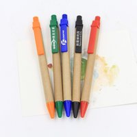 best recycled paper - Recycled Paper Customized LOGO Ballpoint Pens Best Promotion Gifts Protect The Environment