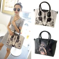 animal print handbags - Women Casual Dog and Cat Printed Handbag High Street PU Leather Animal Print Shoulder Messenger Bag Ladies Tote bolsas de marca H12426