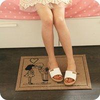 Wholesale Cotton antiskid mat Layer Good Quality Non slip Bedroom Carpet Lovers Sunny Day Art Tree Cherry tree Love Car Pattern cm
