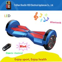 advanced speakers - Advanced design hot self balance scooter electric hoverboard drifting skateboard changing color bluetooth speaker remote control