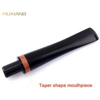Cheap Straight Taper Single Red Ring Decoration in Stem 9mm Filter Adapted Briar Tobacco Pipe Specialized Smoking Pipe Mouthpiece