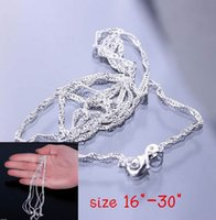 Wholesale 50pcs New Sterling Silver Necklace Charming Women Chain Necklace For Pendants Link Making SH5