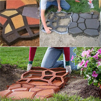 Wholesale DIY Plastic Path Maker Mold Manually Paving Cement Brick Molds Stone Road Auxiliary Tools For Garden Decor