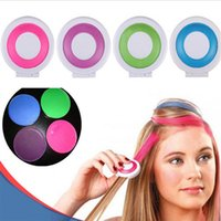 Wholesale 4 Colors Non toxic Temporary Salon Kit Pastel Square Hair Chalk Beauty Hair Colors Pastel Chalk Use for hair
