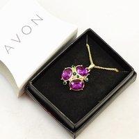 avon - 3323 fashion gold necklace Avon avon purple pendant full of diamond ladies short paragraph clavicle chain jewelry