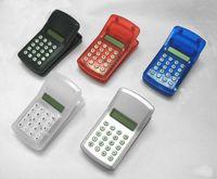 Wholesale 2200pcs in Mini Calculator Magnetic Clip Ons FLCD Screen Display Mini Portable Pocket Clip Mixed Random Colors