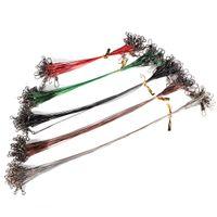 best coat hooks - Best Price set Colors Stainless Steel Coated Fishing Trace Lure Wire Spinner Leader Hooks Swivel Interlock Snaps