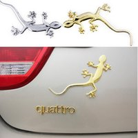 Wholesale Top Quality x7cm Alloy Gecko D Stereoscopic Simulated Car Sticker Car Head Window Tail Door Stickers Car Decal Vinyl S28