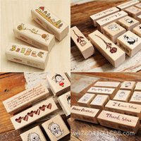 wood flower - HOT Cuttlefish restoring ancient ways Cartoon cat romantic message Long flower waist diary seal The seal of the cuboid