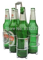 beer carriers - Bottle Beer Carrier Stainless Steel Plain Beer Bottle Six Packs Restaurant Wine Bar Carrier