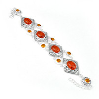 amber clasp - new arrival silver fashion natural amber Chain bracelet jewelry for party B0934