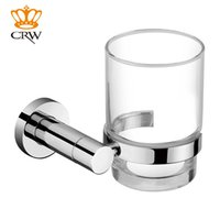 Wholesale CRW Unique Style of glass and stainless less material toothbrush holder