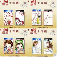 baby mobile kits - Hot Needlework DIY Cross stitch Set For Embroidery kit Cute Smile Baby Girl Flower Cross stitch Mobile Card Set Holder