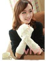 Wholesale Women Girls Knitted Wool Hand Wrist Warmer Half Fingerless Winter Gloves color